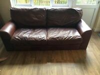 Lovely large 2 seat leather sofa - urgent sale!
