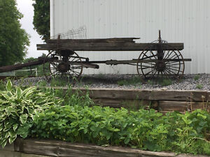 Antique steel wheeled wagon for sale!!