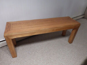 BEAUTIFUL SOLID OAK SOFA / CONSOLE TABLE