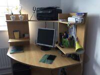 Stunning House of Fraser corner study work desk workstation BEAUTIFUL £99