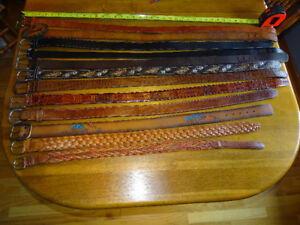 Vintage Quality LEATHER BELTS, Assorted Sizes!