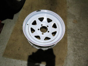 """Trailer wheel rim 15"""" with 5 bolts on 4.5"""" circle."""