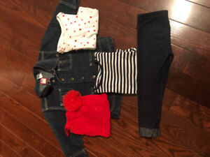 Toddler 3 Jean Jacket, Jeggings and Tops