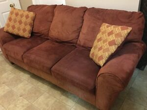 large microfiber 3 seater couch free delivery