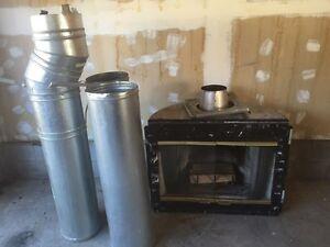 Wood/Gas Fireplace