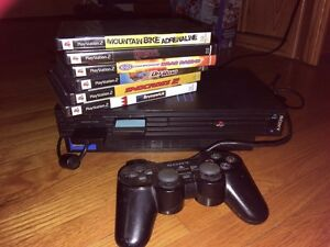 PS2 Fatboy with 6 Games and 1 Controller