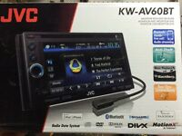 In-dash double din DVD