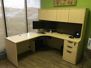 Like New Office Desk and Two Storage Cabinets