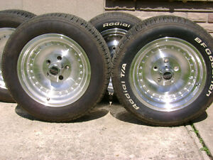 4 OUTLAW II RIMS &B.F.GOODRICH TIRES FOR SALE-LIKE NEW