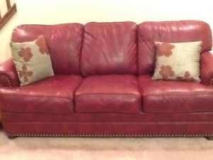 Leather couch and Lazy Boy chair London Ontario image 1