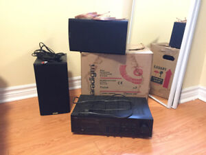 Yamaha Natural Sound RX Stereo System AV Receiver With Paradigm