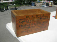 Shot gun shells ammunition box / crate vintage