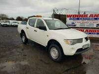 2007 07 PLATE MITSUBISHI L200 4 WORK DOUBLE CAB PICK UP NO VAT