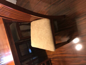 Set of six dining room chairs