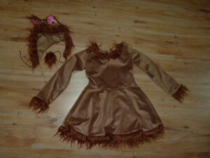 Costume d'halloween robe ourson