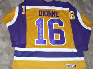 Los Angeles Kings Jersey autographed by Marcel Dionne Size XL