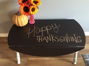 STUNNING HAND MADE CHALKBOARD TABLE!!!