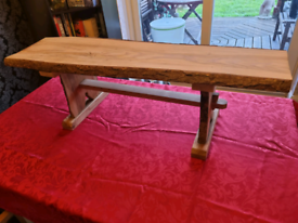 Lovely hand crafted wood bench