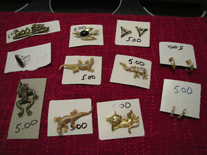 BROOCHES, EARRINGS, CHARMS & RING