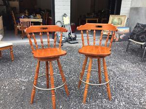 Chaises de bar en chêne