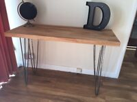 Bespoke dining, console, hall, coffee table. Made to measure bespoke furniture