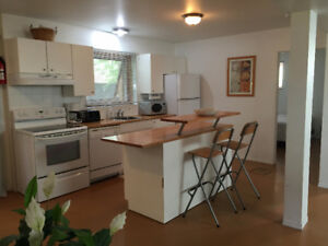 SYLVAN LAKE - Fully Furnished 2 BDRM, walk-out suite - INCL UTIL