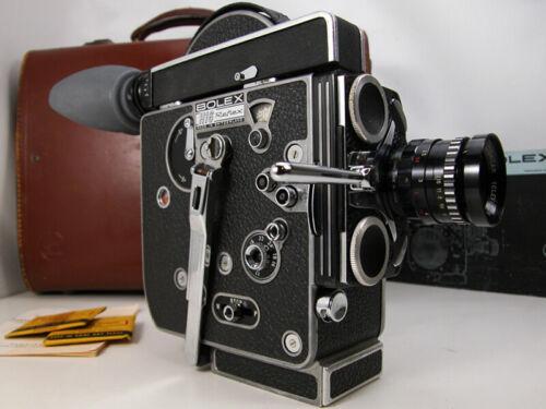 Working BOLEX REX 4 Reflex 16mm MOVIE CAMERA W/Lens Case & Inst Nice!