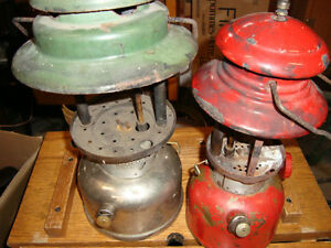 WANTED OLD COLEMAN CAMPING LANTERNS FOR PARTS