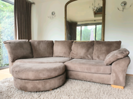 DELIVERY INCLUDED cord corner sofa armchair pouffe sofa suite