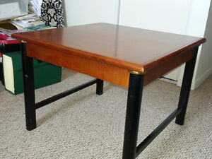 very solid cherry/black coffee table