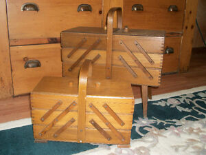 Vintage Cantilever Sewing Boxes