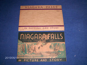 NIAGARA FALLS IN PICTURE & STORY-1946 SOUVENIR MAILER-VINTAGE!
