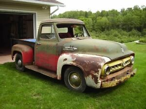 SOLD 1953 FORD F100 WESTERN SHORT BOX TRUCK