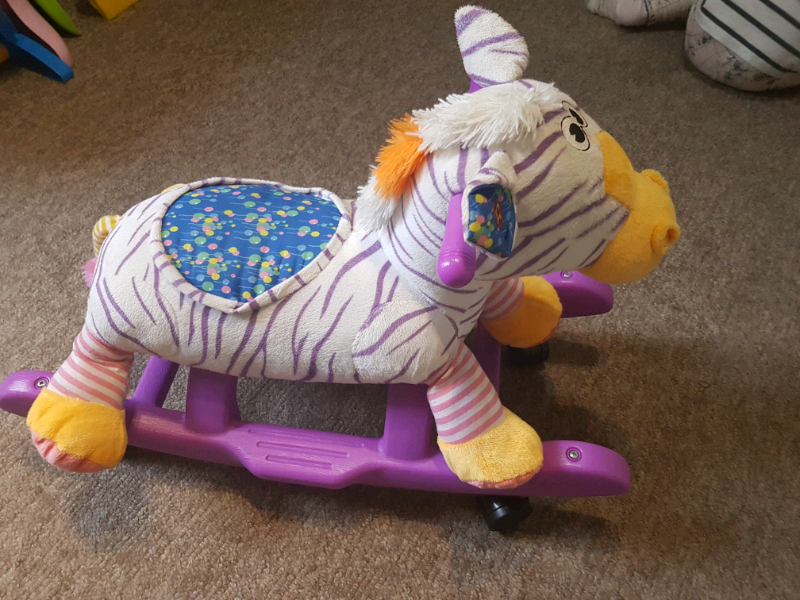 Rocking Zebra Rocking Animal Plush Swing Zebra Sound and ride | in Reading,  Berkshire | Gumtree