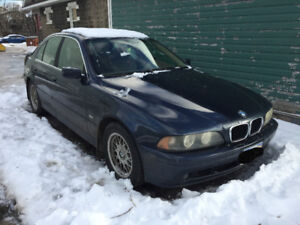2002 BMW E39 530iA with 4 winter tires AND rims OBO