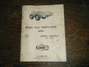 Case W12 Terraload'r Tractor Diesel Parts Catalog