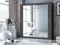 👌👌2/3 Door Sliding door mirrored wardrobe with Free home delivery 👌👌