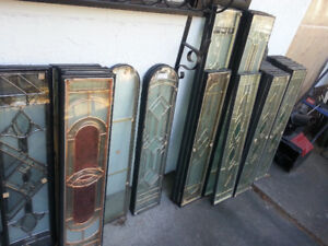 Stained Glass window door inserts , stainglass