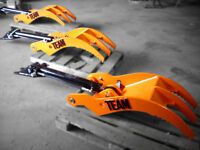 BUCKETS, GRAPPLES, RIPPERS, ETC. ATTACHMENT RENT & SALE