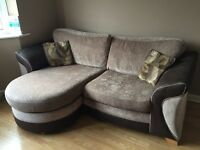 DFS L-Shape Sofa - 3 Seater & 2 Seater