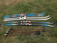 Wax Less Cross Country Skis.and Poles.
