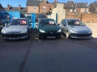 CHOICE OF 3 Peugeot 206s diesel & Petrol start and drives