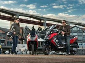 SYM JET 14 125cc LC Automatic Twist & Go Learner Legal Large Maxi Scooter Bik...