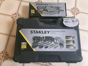 150 pc Stanley Socket set with 36 pc wrench set