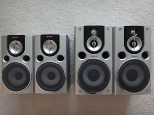 SONY SS-CHPX7 and SS-CHPX9 Silver Bookshelf Speakers