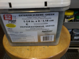 """Large Tubs of #8 Green  1 1/4"""" and 1 5/8"""" Deck Screws"""