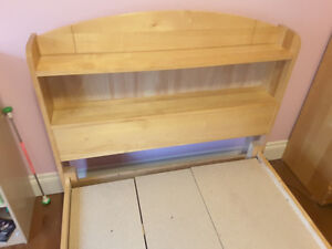 Twin Bed frame with shelves and drawers