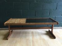 G Plan Smoked Glass Moorish Tiled Retro Vintage Coffee Table