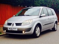RENAULT GRAND SCENIC 1.9 DIESEL PRIVILEGE 05 LOW MILEAGE SERVICE HISTORY KEYLESS ENTRY KEYLESS START