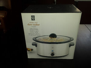 5 Quart Stainless Steel Slow Cooker - NEW in Box